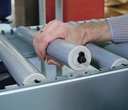 Roller conveyor with Ø 48 plastic rollers