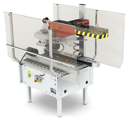 T-400 case sealer with automatic flap closure