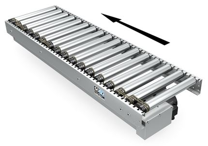 Drive section for driven roller conveyors